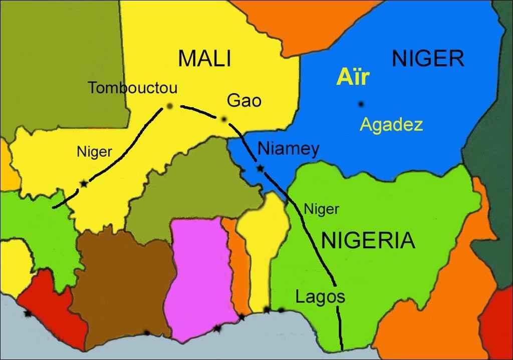 Carte Afrique Nigeria.Tambao Lebe Alfredo Cortex Et La Croix D Agadez